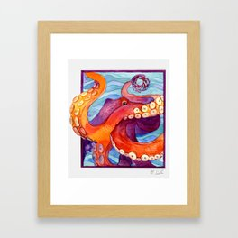 Here's Looking at You Octopus Framed Art Print