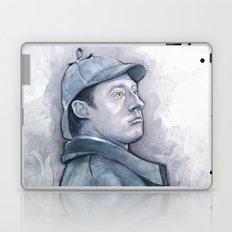 Data as Sherlock Holmes Watercolor TNG Portrait Laptop & iPad Skin