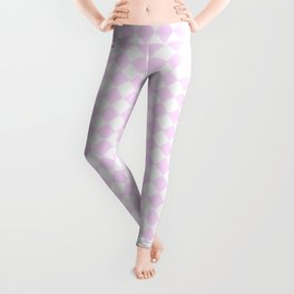 Small Diamonds - White and Pastel Violet Leggings