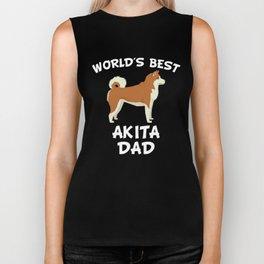 World's Best Akita Dad Biker Tank