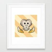 monkey Framed Art Prints featuring Monkey by Nir P