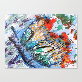 BUTTERFLY - Original abstract painting by HSIN LIN / HSIN LIN ART Canvas Print