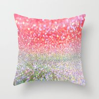decal Throw Pillows featuring Candy. by haroulita