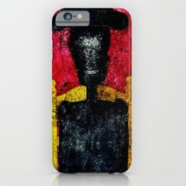 'Hombre,' A Figurative Abstract Watercolor by Rufino Tamayo iPhone Case