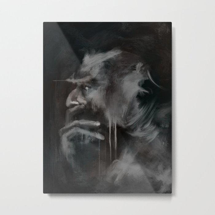 Thinker Metal Print
