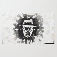 watchmen Area & Throw Rugs featuring Rorschach by Vickn