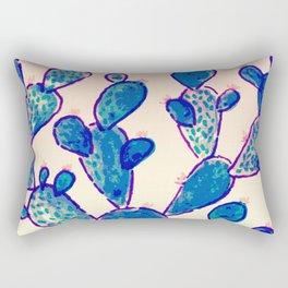 Blue cacti & sunset sky Rectangular Pillow
