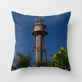 Lighthouse on Sanibel Island Throw Pillow