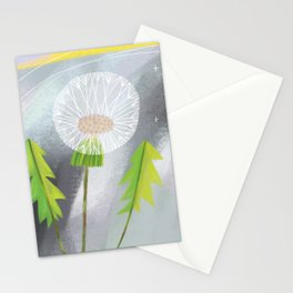 Twilight Dandelion Puff Stationery Cards