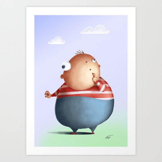 Thinking hard, or hardly thinking Art Print