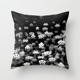 Invaded BLACK Throw Pillow