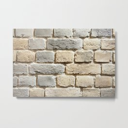 Background white brick wall Metal Print