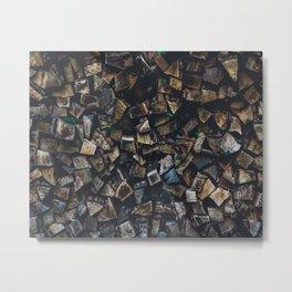 Wood Stack Metal Print