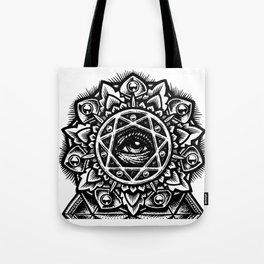 Eye of God Flower Tote Bag
