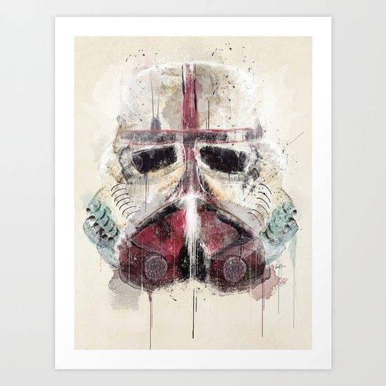 retro trooper Art Print
