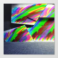 graffiti Canvas Prints featuring Graffiti by MehrFarbeimLeben