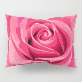 Pink Rose Pillow Sham