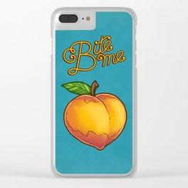 Bite Me Clear iPhone Case