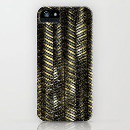 Alien Columns - Black and Gold iPhone Case