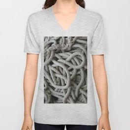 a skein of fishing rope    Unisex V-Neck