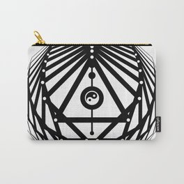 Radiant Abundance (white-black) Carry-All Pouch