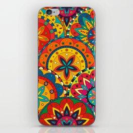 Funky Retro Pattern Mandalas iPhone Skin