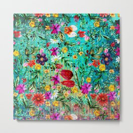 Old Chintz Metal Print