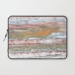 Rosy brown blurred watercolor picture Laptop Sleeve