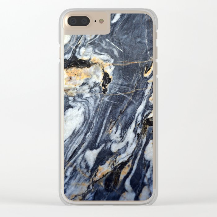 Marble Rock Clear iPhone Case
