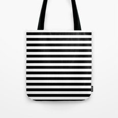 Modern Black White Stripes Monochrome Pattern Tote Bag