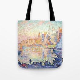 The Port of Saint-Tropez, Paul Signac, 1901 Tote Bag