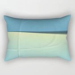 Pattern shadows in blue Rectangular Pillow