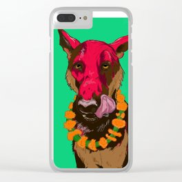 Dog Festival Clear iPhone Case