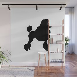 Poodle Dog Breed black Silhouette Wall Mural