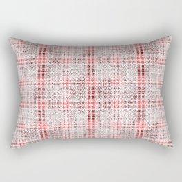 Classical red-gray cell. Rectangular Pillow