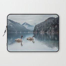 Couple of swans, Alpsee lake Laptop Sleeve