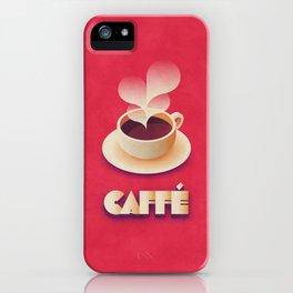 Art Deco Vintage Retro Coffee - Red iPhone Case