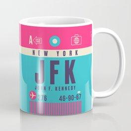 Retro Airline Luggage Tag - JFK New York Coffee Mug
