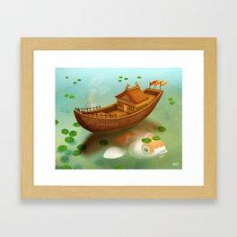 On The Pond Framed Art Print