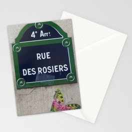 4 Arr. Rue Des Rosiers Stationery Cards