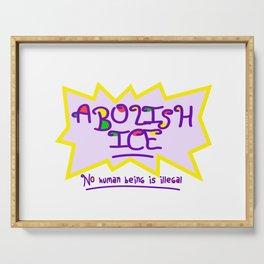 ABOLISH ICE! Serving Tray