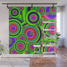 Psychedelic Spirals Wall Mural
