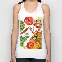 vegetable Tank Tops featuring Vegetable mix by Liliya Kovalenko