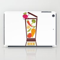 vegetable iPad Cases featuring Vegetable smoothie by olillia