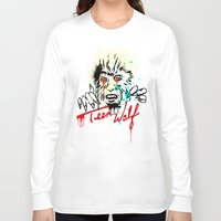 teen wolf Long Sleeve T-shirts featuring Teen Wolf  by DIVIDUS