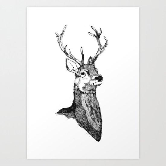 Noble Stag Art Print