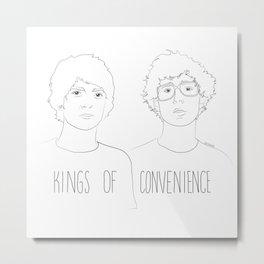 Kings of Convenience Metal Print