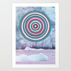 Warm Ice Art Print