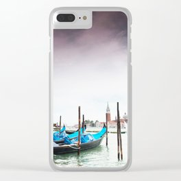 Venice gondolas, San Marco plaza Clear iPhone Case