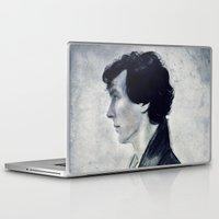sherlock Laptop & iPad Skins featuring Sherlock by LindaMarieAnson